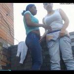 Novinhas peladinhas na laje da favela