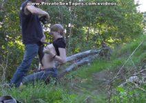 Danadinha fogosa entregando a xereca ao ar livre